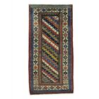 One-of-a-Kind Halpin Caucasian Gendge Exc Cond Hand-Knotted Red/Blue Area Rug