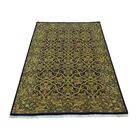 One-of-a-Kind Hance Prayag New Zealand Oriental Hand-Knotted Wool Black Area Rug