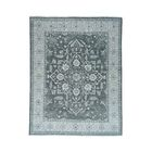 One-of-a-Kind Newcastle Silver Wash Serapi Oriental Hand-Knotted Gray Area Rug