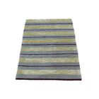 One-of-a-Kind Dougan Modern Nepali Oriental Hand-Knotted Silk Gray/Beige Area Rug