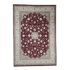 One-of-a-Kind Dillion Oriental Hand-Knotted Silk Red Area Rug