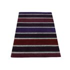 One-of-a-Kind Ferriera Striped Raised Oriental Hand-Knotted Red/Black Area Rug