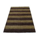 One-of-a-Kind Ferriera Striped Modern Peshawar Oriental Hand-Knotted Brown/Beige Area Rug