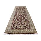 One-of-a-Kind Genova Tabriz Hand Spun New Zealand Hand-Knotted Wool Red Area Rug