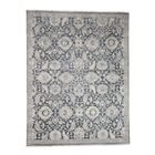 One-of-a-Kind Dilbeck Oxidized Oriental Hand-Knotted Silk Gray Area Rug
