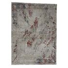 One-of-a-Kind Goree Oxidized Broken Tulip Oriental Hand-Knotted Silk Gray Area Rug