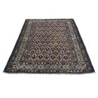 One-of-a-Kind Fraise Caucasian Shirvan Oriental Hand-Knotted Brown Area Rug