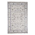 One-of-a-Kind Pokorny Nain Oriental Hand-Knotted Silk Ivory Area Rug