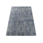One-of-a-Kind Port Chester Abstract Oriental Hand-Knotted Silk Gray Area Rug