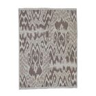 One-of-a-Kind Etherton Soumak with Ikat Flat Weave Oriental Hand-Knotted Beige Area Rug