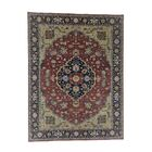 One-of-a-Kind Newcastle Re-Creation Oriental Hand-Knotted Red Area Rug