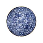 One-of-a-Kind Bovinia Tabriz Oriental Hand-Knotted Silk Blue Area Rug