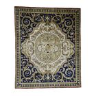 One-of-a-Kind Harkey Nepali with Aubusson Thick and Plush Oriental Hand-Knotted Ivory Area Rug