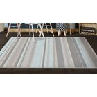 Isabell Traditional Pastel Striped Blue Area Rug Rug Size: Rectangle 7'6