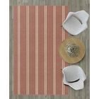 Iyanna Traditional Vertical Striped Brown Area Rug Rug Size: Rectangle 7'6
