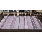 Laisha Traditional Pastel Striped Purple Area Rug Rug Size: Rectangle 5' x 8'