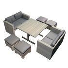 Halleck 5 Piece Rattan Sofa Set with Cushions