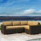 Glen Ellyn 4 Piece Sectional Set with Sunbrella Cushion Cushion Color: Heather Beige