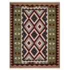 St Catherine Handmade Kilim Wool Green/Brown Area Rug Rug Size: Rectangle 8' x 10'