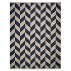 Milbrandt Handmade Kilim Wool Blue/Beige Area Rug Rug Size: Rectangle 5' x 8'