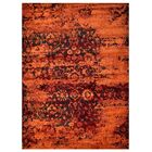 Rackers Orange Area Rug Rug Size: Rectangle 4' x 6'