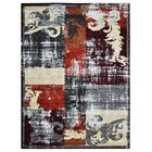 Housel Red/Gray Area Rug Rug Size: Rectangle 10' x 13'
