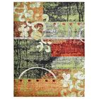 Rackers Green/Orange Area Rug Rug Size: Rectangle 8' x 10'