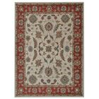 Bowman Hand-Tufted Wool Beige/Red Area Rug Rug Size: Rectangle 10' x 13'