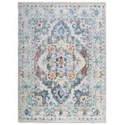 Hartshorn Ivory/Blue Area Rug Rug Size: Rectangle 5'7