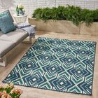 Brunton Geometric Navy Indoor/Outdoor Area Rug Rug Size: Rectangle 7'10