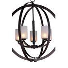 Heavner 5-Light LED Globe Chandelier Shade Pattern: Opal, Finish: Bronze