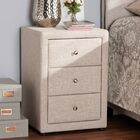 Leff 3 Drawer Nightstand Color: Beige