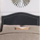 Tricia Upholstered Panel Headboard Upholstery: Black, Size: Full/Queen