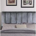 Kurth Upholstered Panel Headboard Upholstery: Gray, Size: King