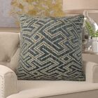 Frausto Maze Luxury Couch Pillow Fill Material: 95/5 Feather/Down, Size: 16