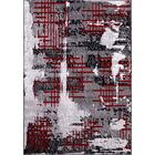 Nadel Gray/Red Area Rug Rug Size: Rectangle 8' x 10'
