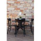 Sletten Patio 5 Piece Dining Set Color: Black