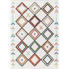 Totterdown Ivory/Orange Area Rug Rug Size: Rectangle 3'3