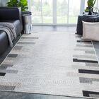 Binford Geometric Light Gray Indoor/Outdoor Area Rug Rug Size: Rectangle5'3