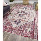Avenue Ivory/Fuchsia Area Rug Rug Size: Rectangle 8' x 10'