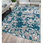 Amelie Blue/Gray Area Rug Rug Size: Rectangle 8' x 10'
