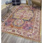 Avenue Gold/Pink Area Rug Rug Size: Rectangle 8' x 10'