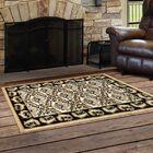 Northwest Hills Black/Beige Indoor/Outdoor Area Rug Rug Size: Rectangle 2' 7