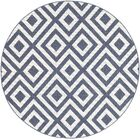Idabel Geometric Blue Indoor/Outdoor Area Rug Rug Size: Round 5'3