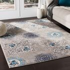 Kent Distressed Contemporary Taupe/Blue Area Rug Rug Size: Rectangle 9'3