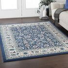 Kent Traditional Floral Navy/Ivory Area Rug Rug Size: Rectangle 5'3