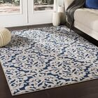 Kent Modern Medallion Gray/Navy Area Rug Rug Size: Rectangle 9'3