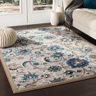 Kent Modern Floral Camel/Sky Blue Area Rug Rug Size: Rectangle 7'10