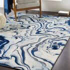 Jemma Modern Abstract Blue/Gray Area Rug Rug Size: Rectangle 7'10