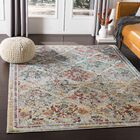 Kaiden Distressed Medallion Teal/Yellow Area Rug Rug Size: Rectangle 7'10